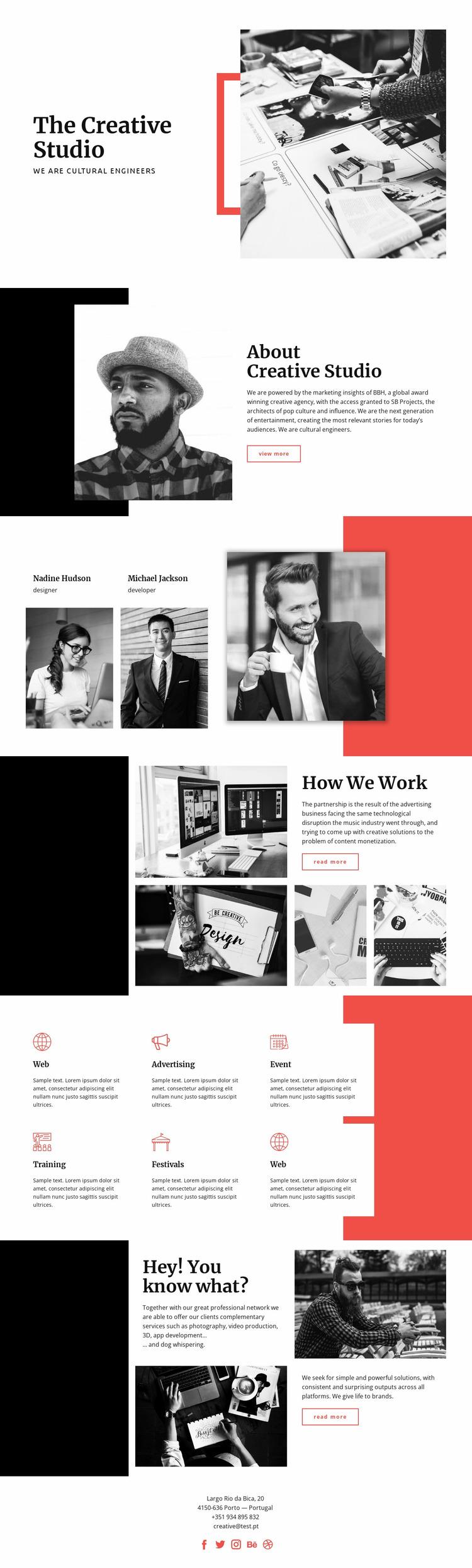The Creative Studio Website Mockup