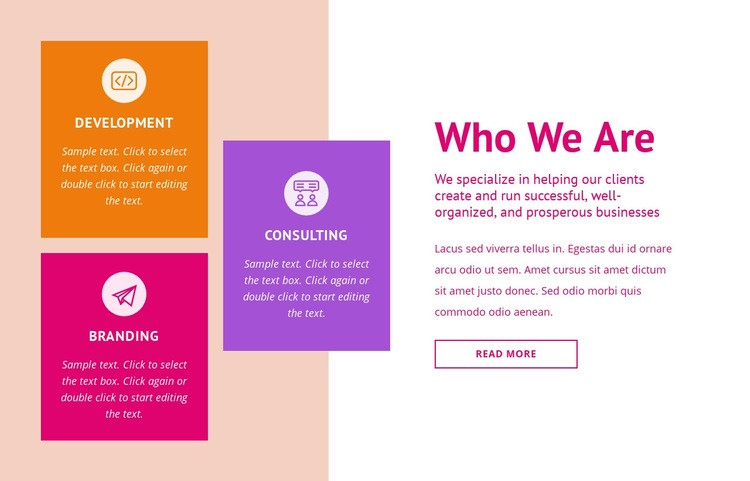 Branding and consulting Html Code Example