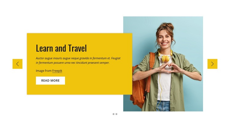 Study and travel program Web Page Design