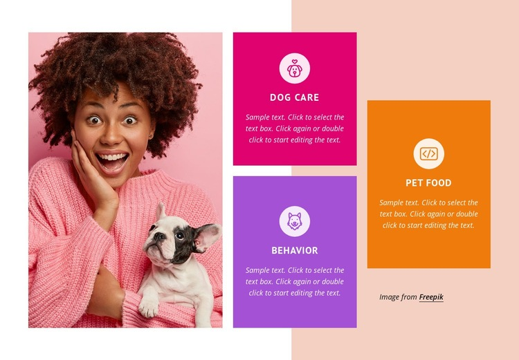 Cats and dogs care Web Page Design