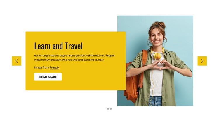 Study and travel program Web Page Designer