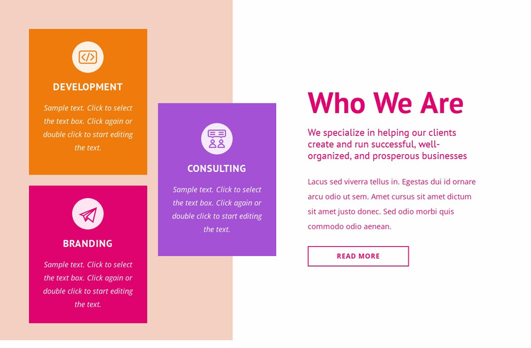 Branding and consulting Website Template