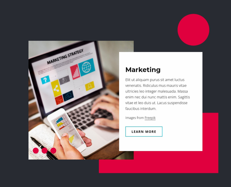 Marketing and sales technology Html Website Builder