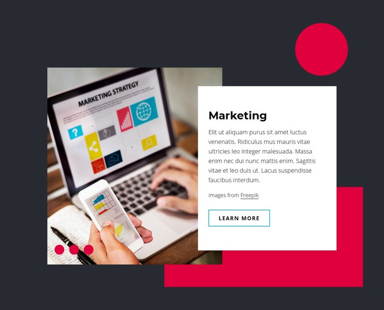 Marketing and sales technology Web Page Design