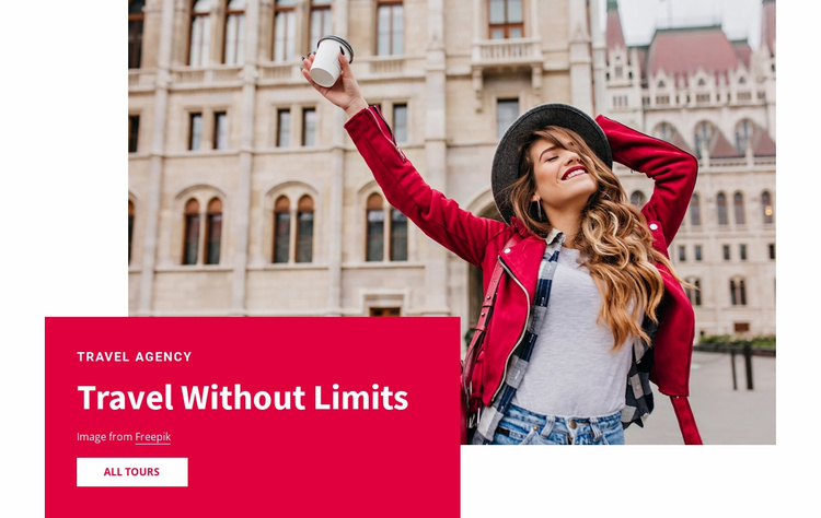 Travel without limits Landing Page