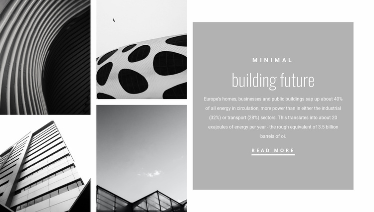 New forms in architecture Website Template