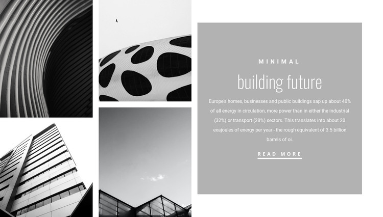 New forms in architecture WordPress Theme