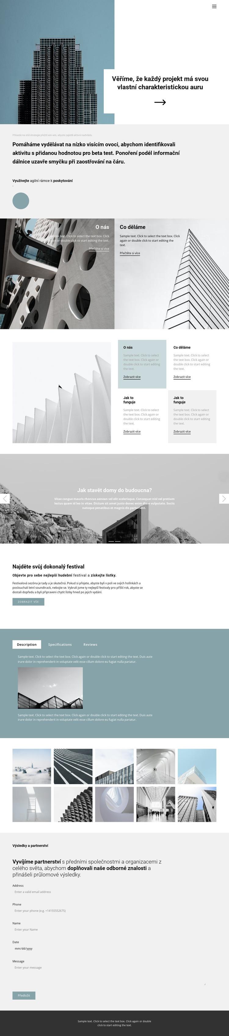 Vyberte si kancelář pro sebe Šablona webové stránky