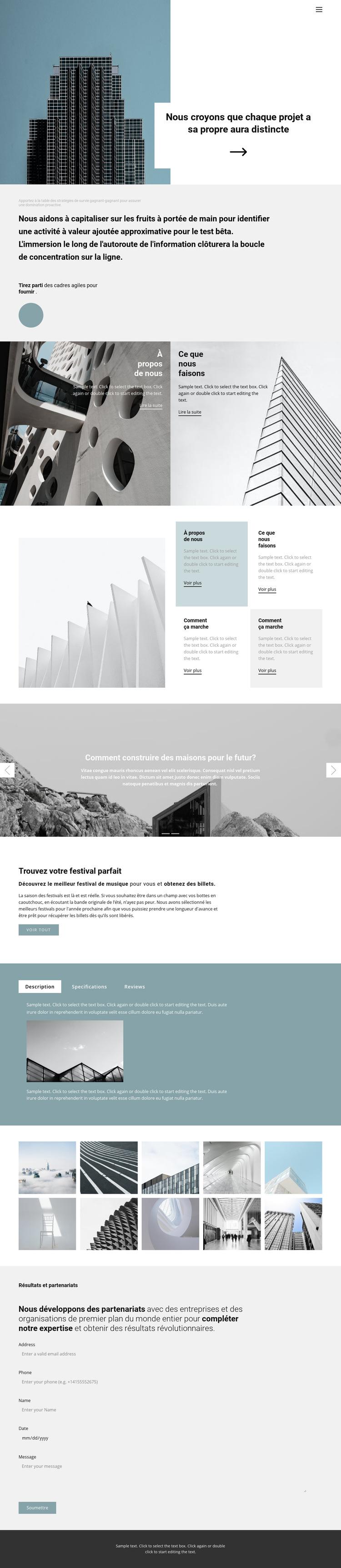 Choisissez un bureau pour vous-même Modèle de site Web