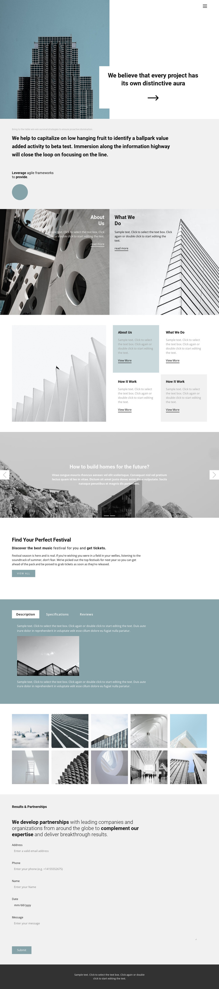 Choose an office for yourself HTML5 Template