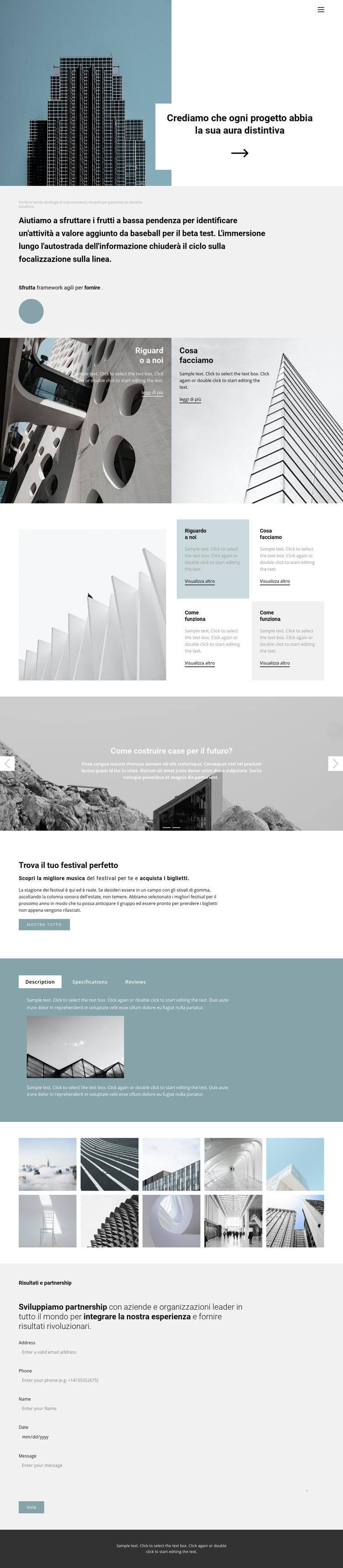 Scegli un ufficio per te Modello di sito Web