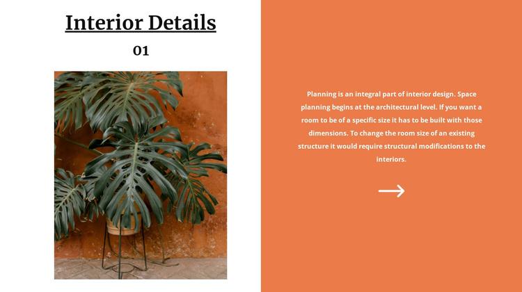 Terracotta color in design Joomla Template