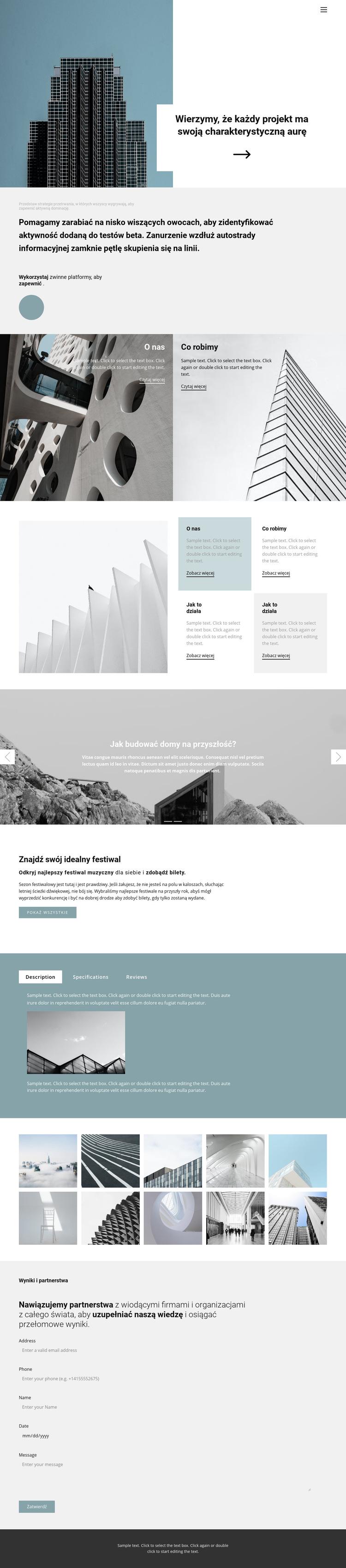 Wybierz biuro dla siebie Szablon witryny sieci Web