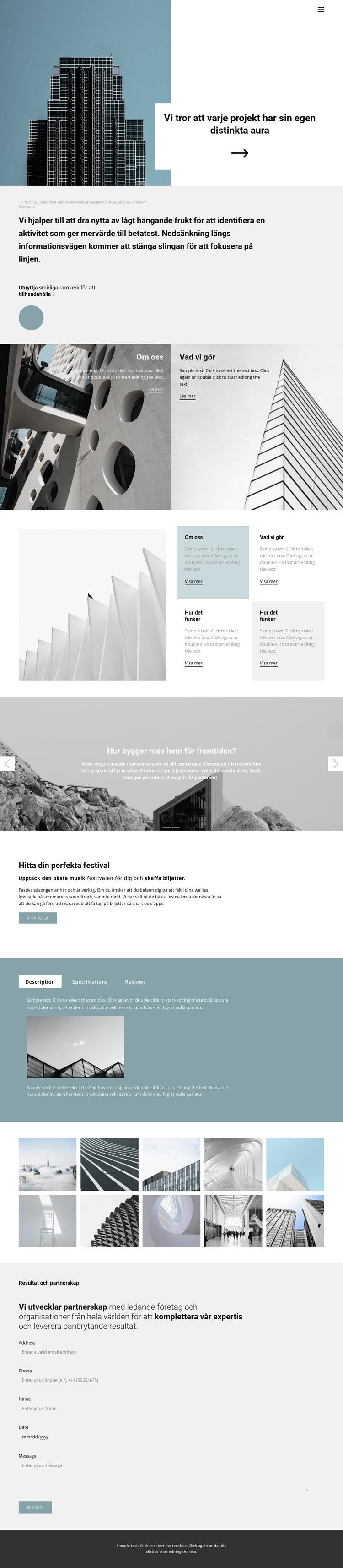 Välj ett kontor själv Webbplats mall