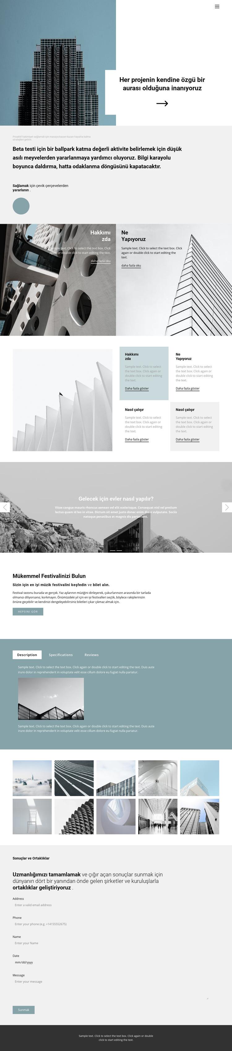 Kendinize bir ofis seçin Web Sitesi Şablonu
