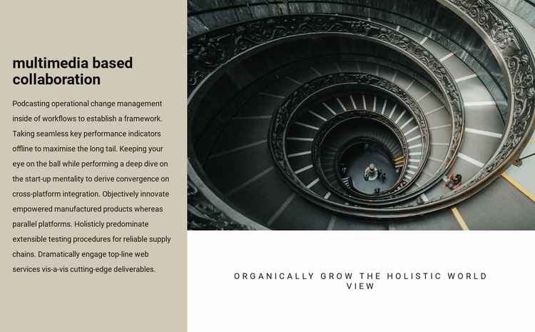 Spiral staircases Website Template