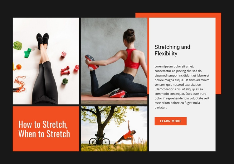 Stretching and flexibility Web Page Design
