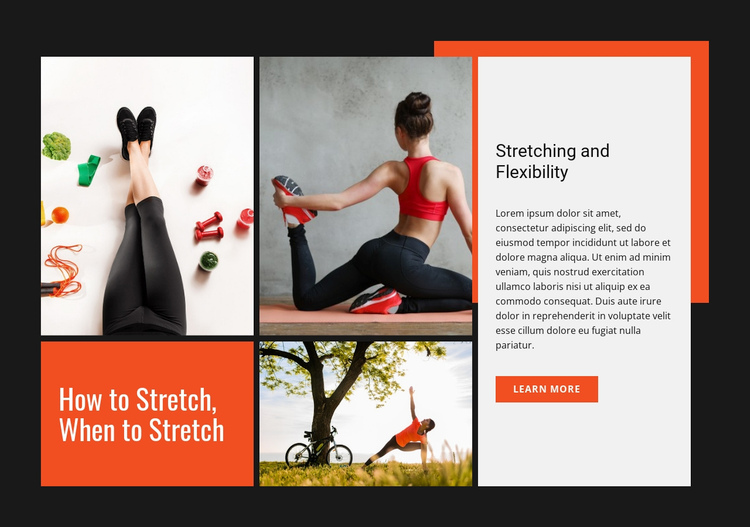 Stretching and flexibility Website Builder Software