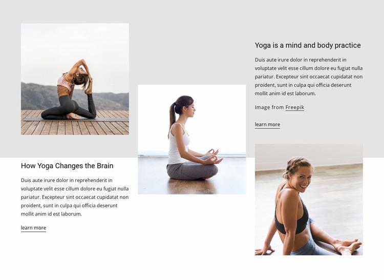 Yoga effects on brain health Web Page Designer