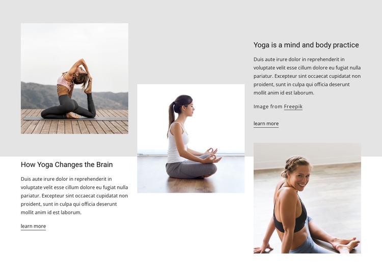 Yoga effects on brain health Website Builder Software