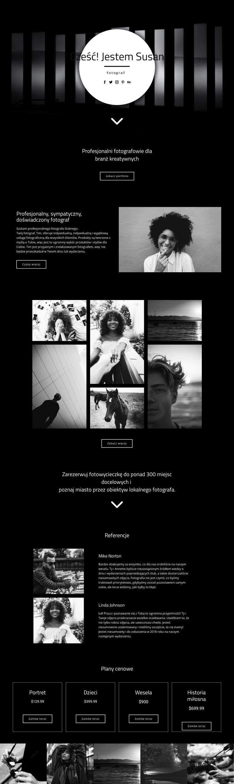 Twój fotograf Szablon witryny sieci Web