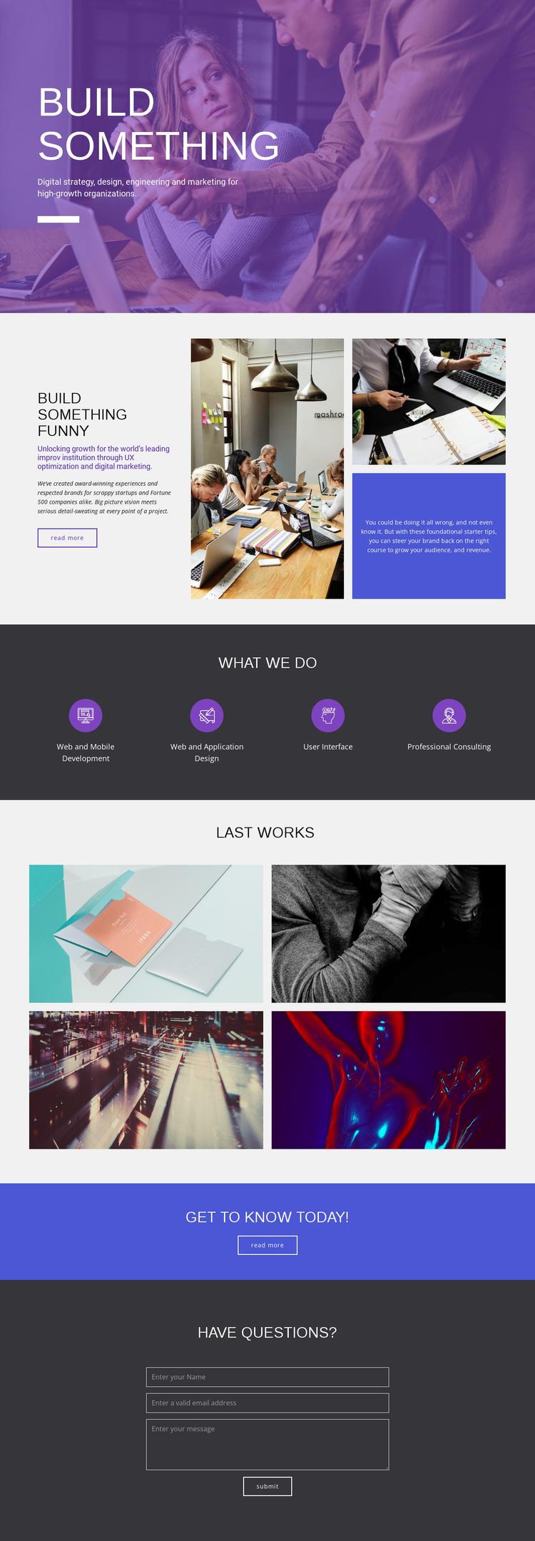 Building agency Website Design