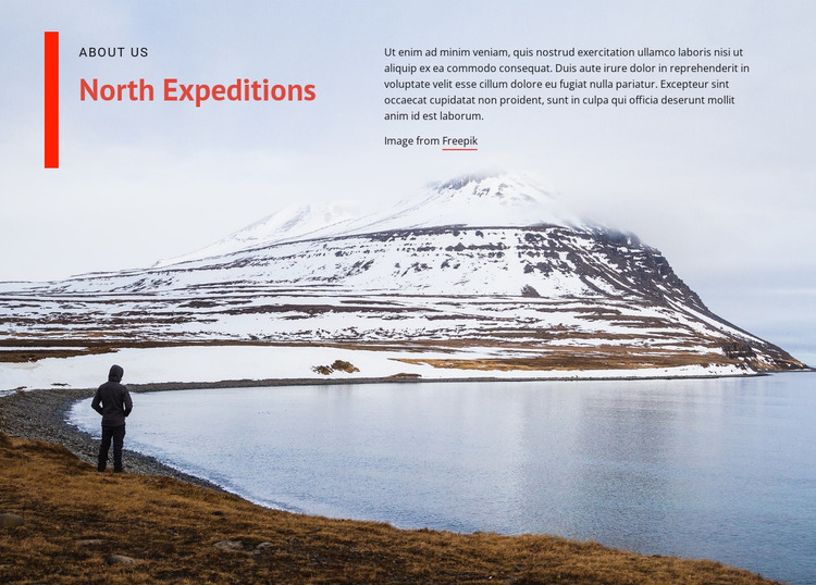North expeditions Html Website Builder