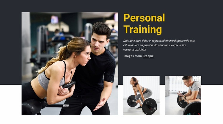 Crush all your fitness goals Web Page Design