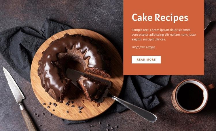 Cake recipes Web Page Design