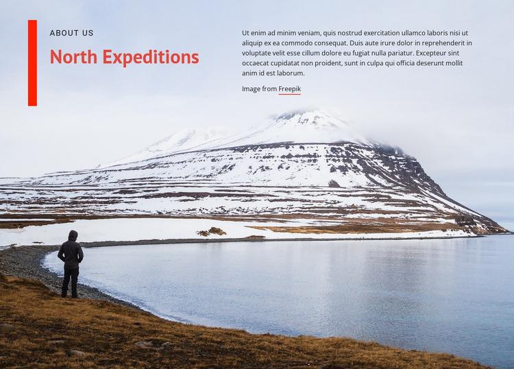 North expeditions WordPress Website Builder