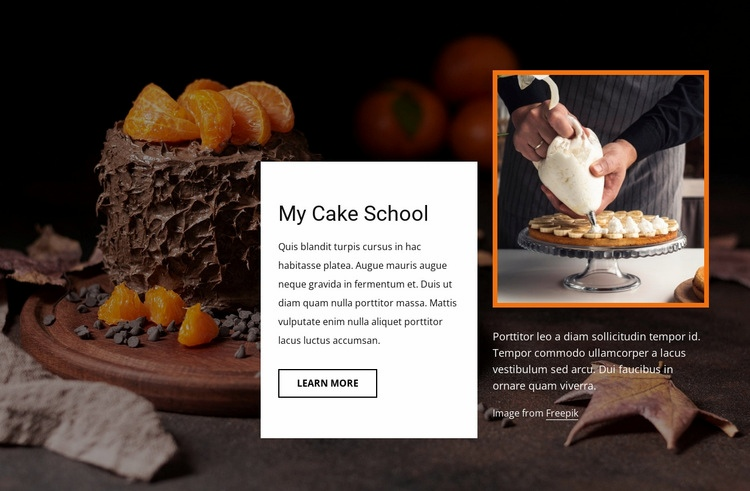 My cake school Web Page Design