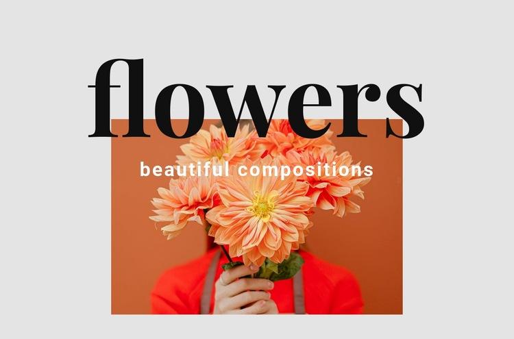 Flower arrangements Web Page Design