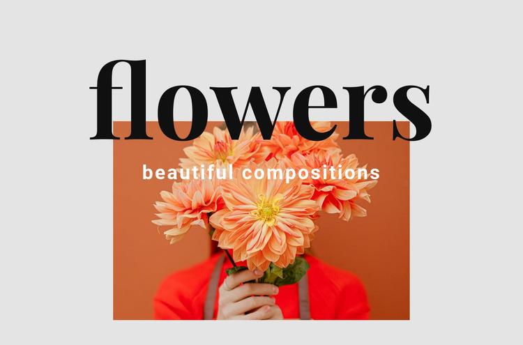 Flower arrangements WordPress Website Builder