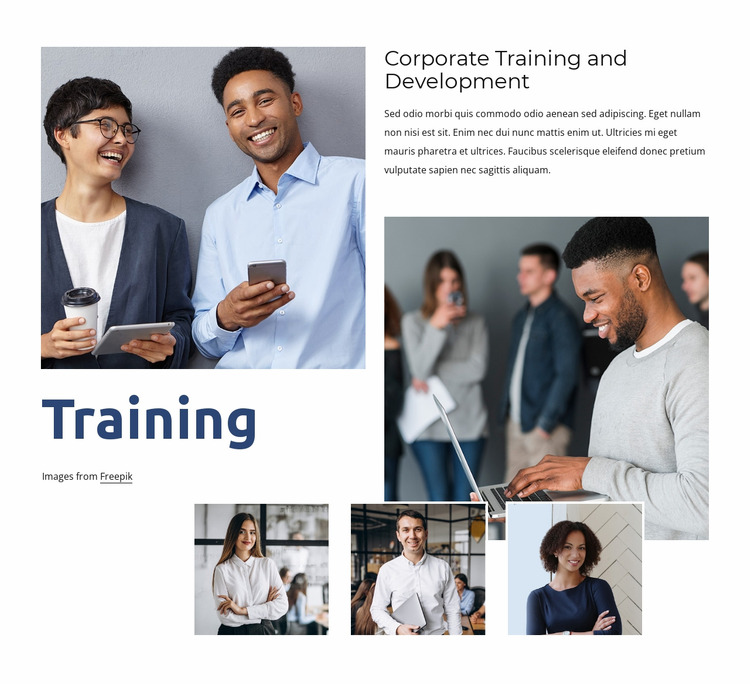Flexible learning for your team Html Website Builder