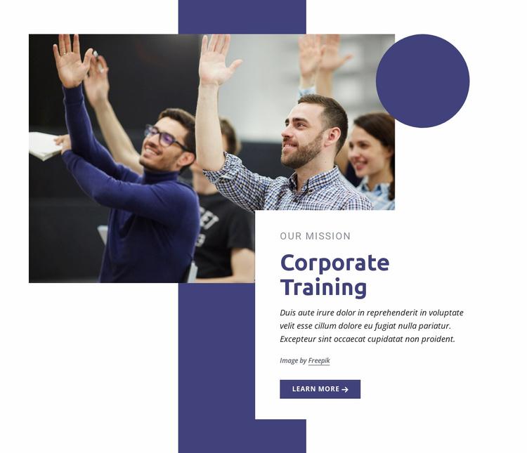 Corporate training programs Website Template