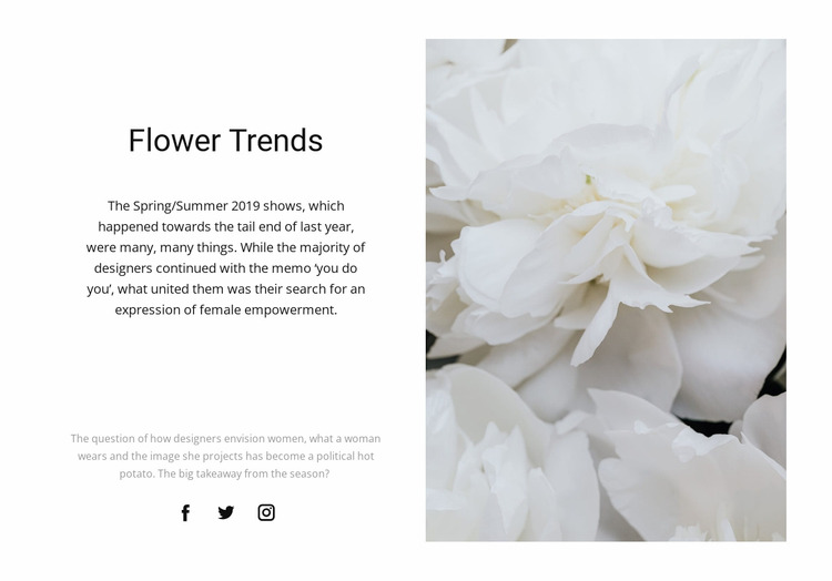 Peonies are fashionable WordPress Website Builder