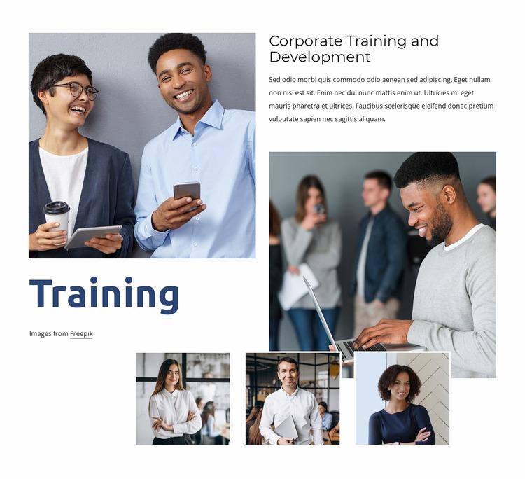 Flexible learning for your team WordPress Website Builder