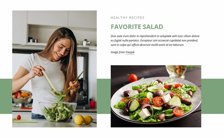 Favorite salad Homepage Design