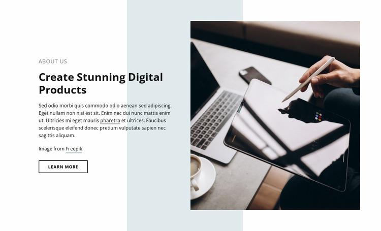 Stunning digital products Html Website Builder