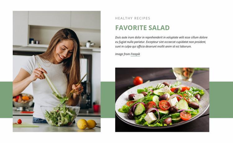 Favorite salad Website Mockup