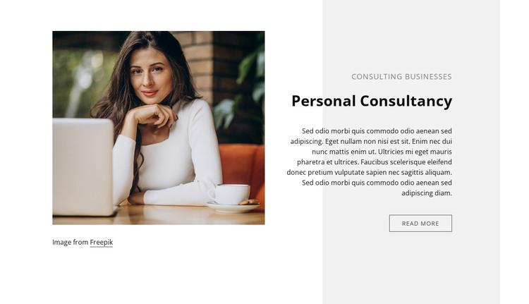 Personal consultancy WordPress Theme