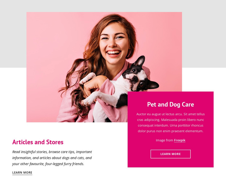 Amazing facts about dogs HTML Template
