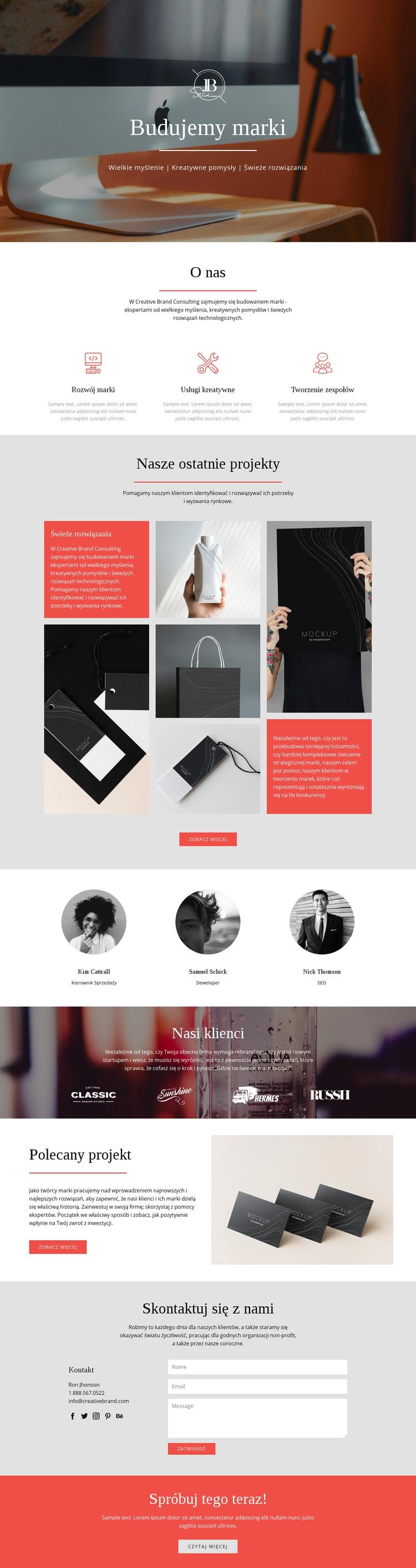 Budujemy marki Szablon witryny sieci Web