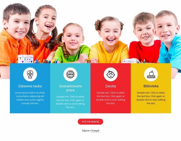 Gry i zabawy dla dzieci Szablon Joomla