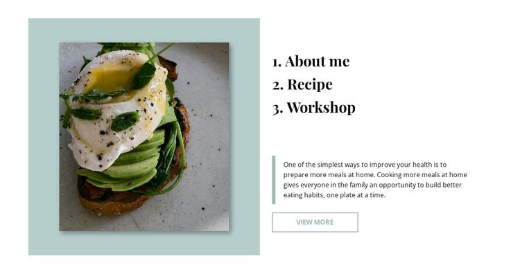 Avocado toast Website Builder Software