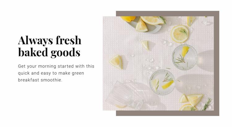 The benefits of lemon water Website Template