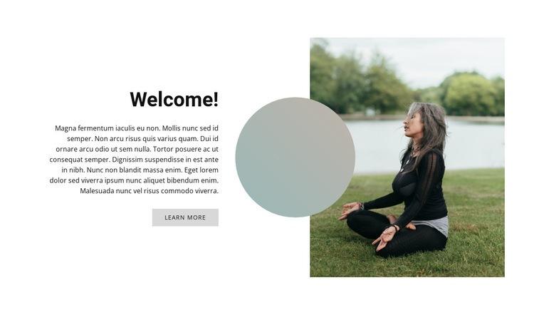 Outdoor yoga Html Code Example