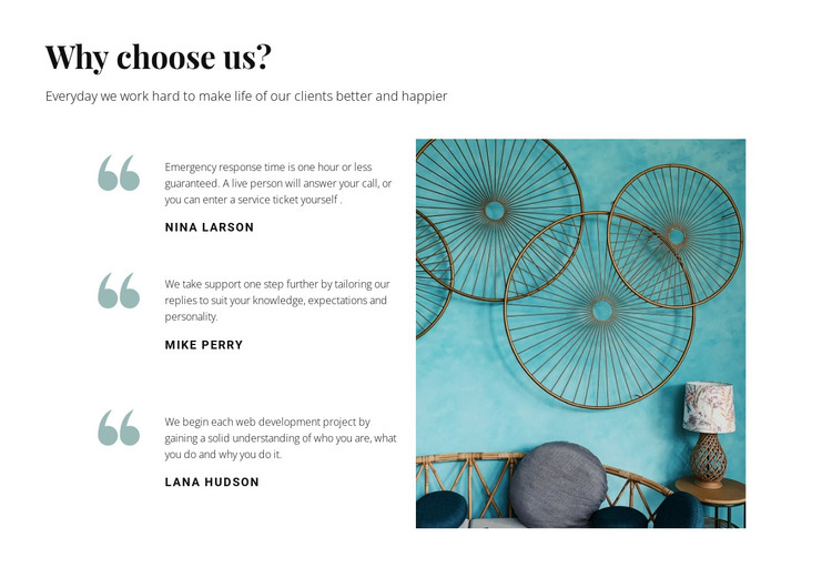 Opinions about us HTML Template