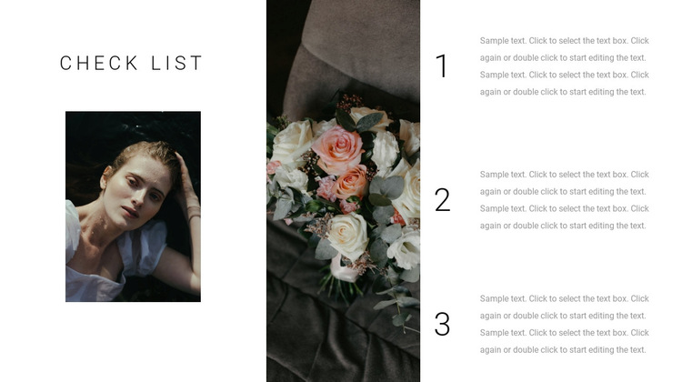 Checklist of fashionable solutions HTML5 Template