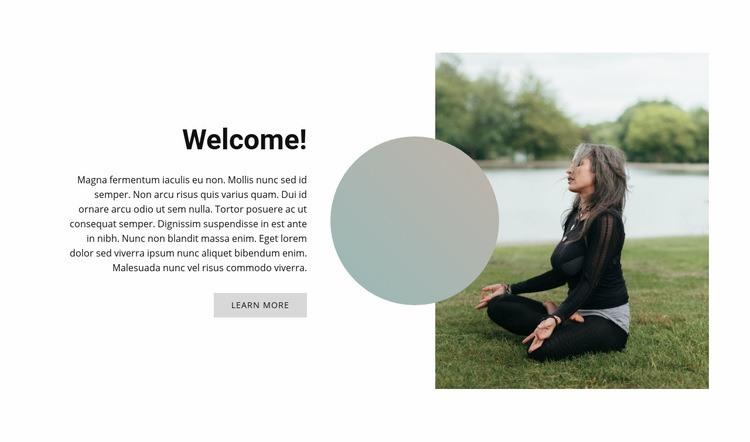 Outdoor yoga Web Page Design